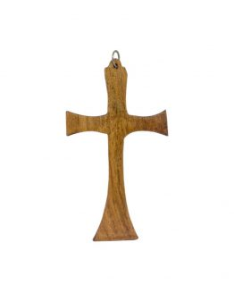wooden pendent holly cross