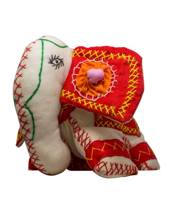 elephant comfort toy red