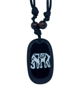 unisex stoned elephant necklace