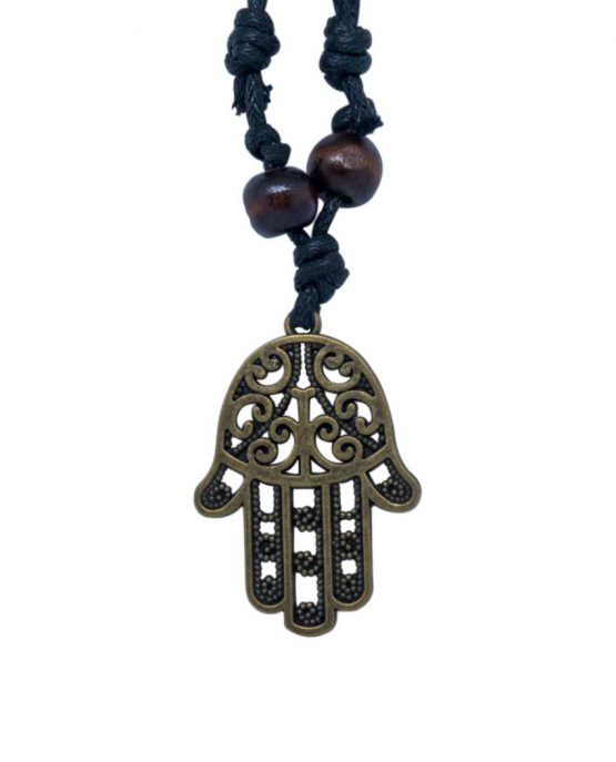 Evil Eye Lady Hamsa Hand Of Fatima Vintage Necklace