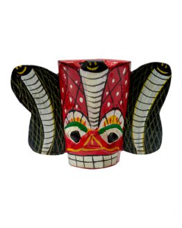 naga raksha wooden magnet ceylon traditional masks