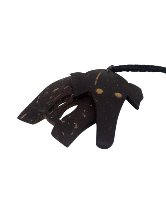 elephant coconut shell pendent