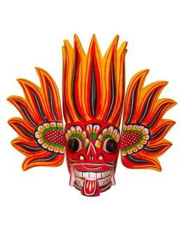 Sri Lankan Traditional gini Raksha wooden Mask