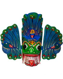 Sri Lankan Traditional Mayura Raksha wooden Mask
