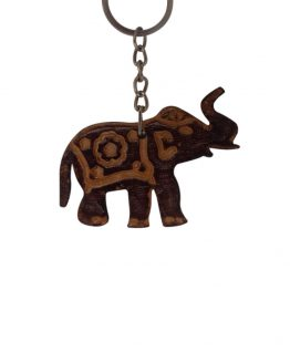 sri lankan elephant genuine leather keyring