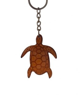 Leather-turtle-keyring