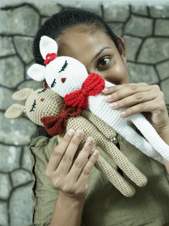 Crochet Toy Hand Knitted Bunny